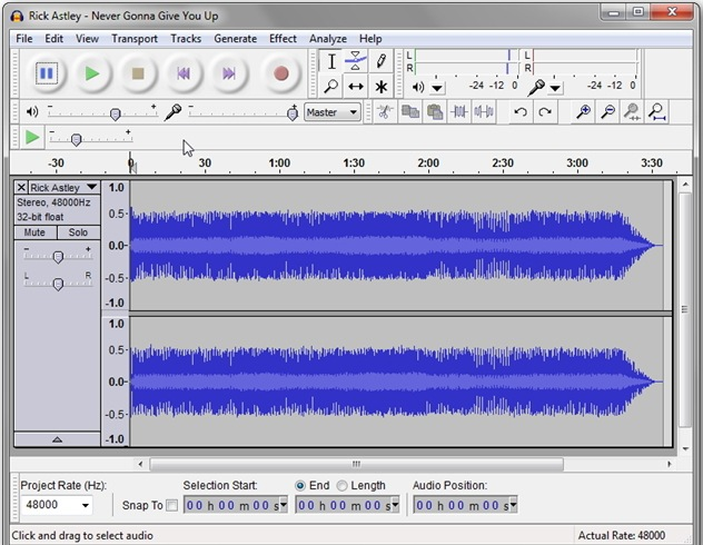 Как сделать трек в audacity 3