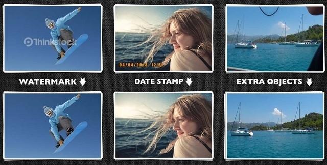 Как убрать с фотографии дату?