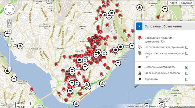 Карта на Hotels.com
