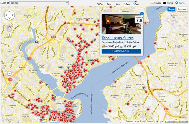 Карта на Hotels.ru