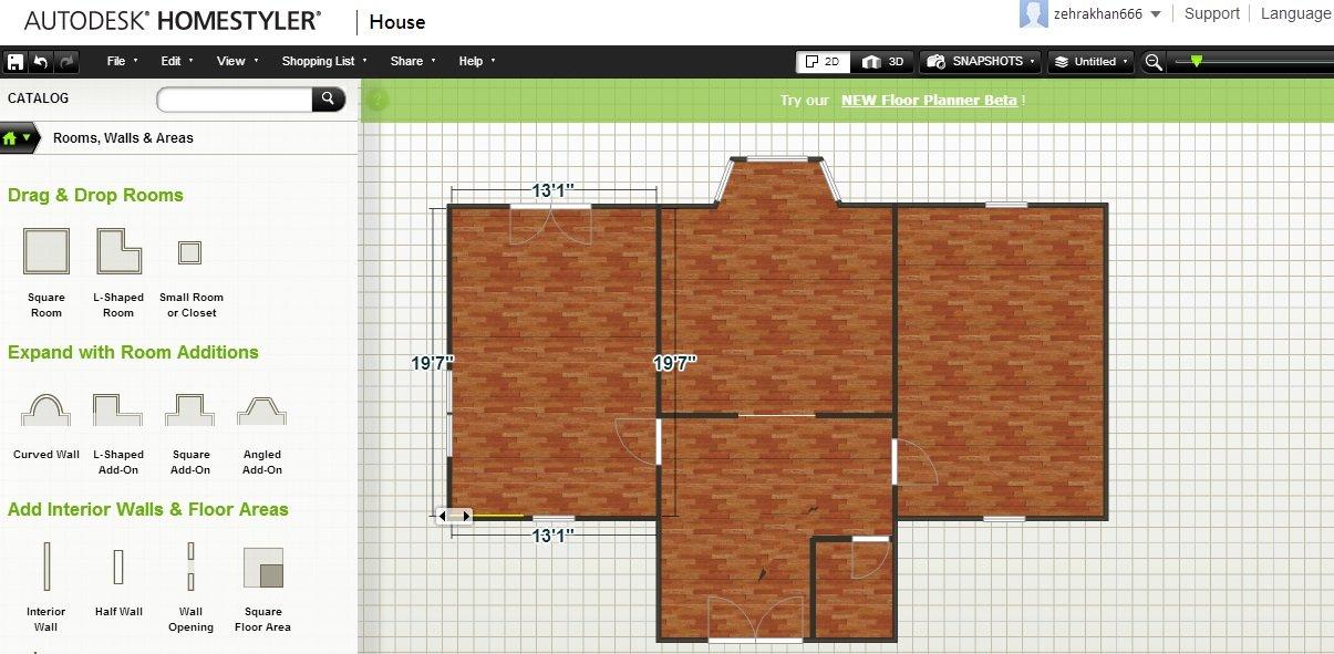 Autodesk Homestyler — проектирование дизайна интерьера онлайн