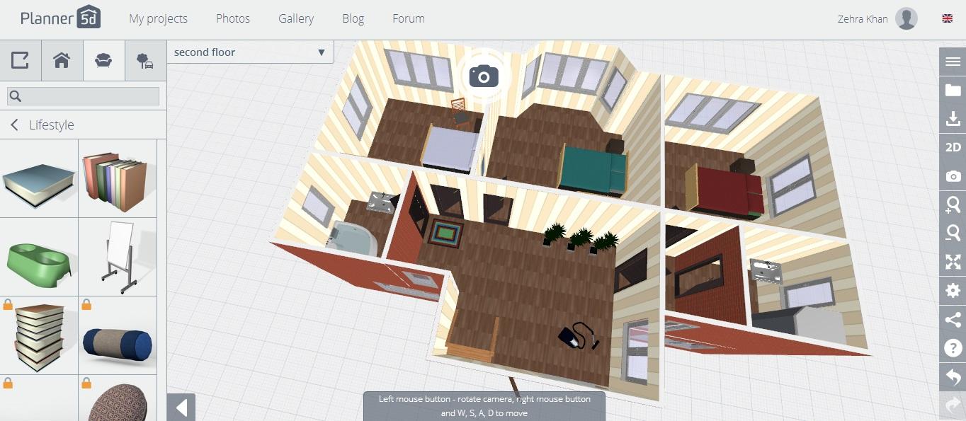 Planner 5D — бесплатная программа для проектирования помещений