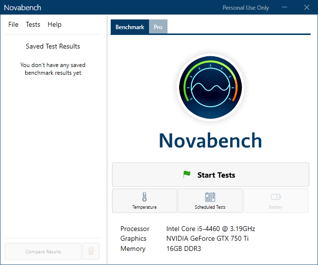 novabench-start-tests