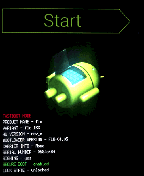 start-mode-android